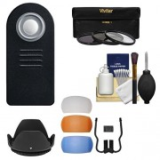 Essentials Bundle for Nikon D5200 D5300 D5500 D7100 DSLR Camera & 18-140mm VR Lens with Remote + 3 UV/CPL/ND8 Filters + 4 Pop-Up Flash Diffusers + Lens Hood + Kit