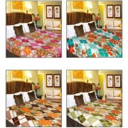 iLiv MultiColor Double Bed Ac Blankets - set of 4-4pntDB02