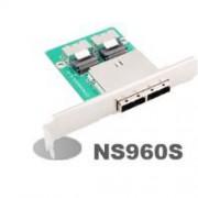 NS960S Dual internal miniSAS to external miniSAS Adapter