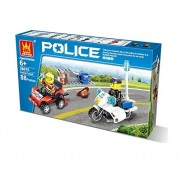 Police Chase Building Blocks 88pcs Set Compatible With Lego Parts, DIY Fun Blocks, Great Gift Idea For Kids.