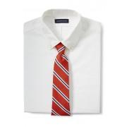 ランズエンド LANDS' END メンズ・シルクコットン・モガドール・プレップ・ストライプ・タイ/ネクタイ(リッチパパイヤストライプ)