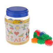 Magideal Kids Fun Play Toothed Wheel Soft Splicing Building Blocks Preschool Toy