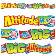 Trend Enterprises Attitude Is A Little Thing Classroom Border T-25044