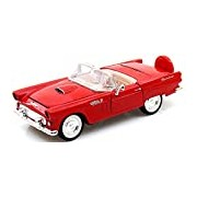 """Motormax GOTZMM73215RD 1:24 Scale Red """"1956 Ford Thunderbird"""" Die Cast Model Car without Roof"""
