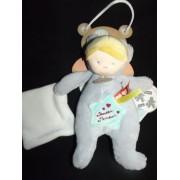 Doudou D'amour Mouchoir Poupée Déguisé Baby Nat' Babynat Gris Plush Comforter Soft Toy Peluche