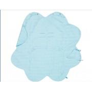 Wallaboo - Одеалце олекотен памук синьо