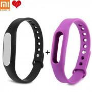 Original Xiaomi Mi Band Miband 1s Pulse Heart Rate Bracelet Smart + Bande Violet