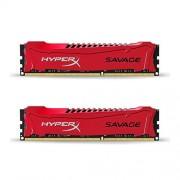 HyperX Savage - Mémoire RAM 8 Go (2x4 Go) (HX316C9SRK2/8) - Rouge