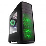 Caja Sobremesa Nox Coolbay Zx Gaming. ATX , USB 3.0, LED Verde ,sin Fuente