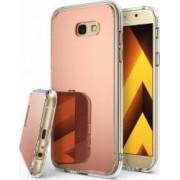 Skin Ringke Samsung Galaxy A5 2017 MIRROR ROSE GOLD + BONUS folie protectie display Ringke