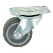 GUITEL POINT M - Roue Plastex gris 42 x Ø 32 mm - Portée 12 Kg