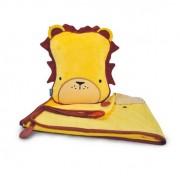 Trunki - Възглавница и одеало за път Поспаланковци Лъв - жълто