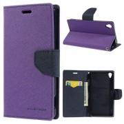 Korean Mercury Fancy Diary Wallet Case for Sony Xperia Z3 - Purple