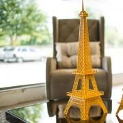 Torre Eiffel Decorativa Tamanho M TE01 Amarelo - Geton Concept