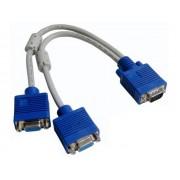 NTR CAB29 VGA dugó - 2x VGA aljzat elosztó kábel 30cm