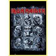 Poster Encadré: Iron Maiden - Eddies (91x61 Cm), Cadre Plastique, Jaune
