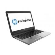 HP ProBook 650 i3-4000M 15.6 4GB/500 PC Core i3-4000M, 15.6 HD AG LED SVA, UMA, 4GB DDR3 RAM, 500GB HDD, DVD+/-RW, 802.11 a/b/g/n, BT, 6C Battery, FPR, Win 10 PRO 64 DG Win 7 64, 1yr Warranty