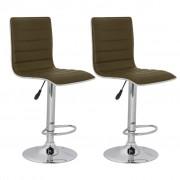 vidaXL Barová židle s vysokou zádovou opěrkou - 2 ks hnědá