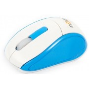 Mouse nJoy Optic Wireless M6 (Alb/Albastru)