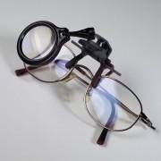 Lupă clip-on pentru ochelari cu putere de mărire 5x