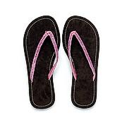 Chocolate Brown Faux Suede Flip Flop Sandal