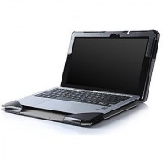 IVSO ASUS Transformer Book T200TA High Quality Leather Keyboard Portfolio Stand Cover Case-Will only fit ASUS Transformer Book T200TA Tablet (Black)
