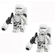 LEGO Star Wars - 2 minifigures of First Order Flame Trooper with weapon from 75103.