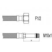 "Racord flexibil baterii F1/2""xM10 cu capat lung, 50cm, Techman WBS24"