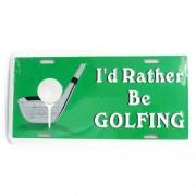 San Diego Gift I'd Rather be Golfing Metal License Plates【ゴルフ その他のアクセサリー>ホーム/オフィス】