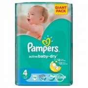 Scutece Active Baby 4 Giant Pack, 76 buc, Pampers