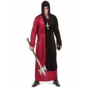 Disfarce monge sinistro Halloween homem
