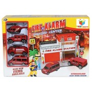 Toys Bhoomi Safe Zone City Fire Alarm Station Parking Lot Garage Toy Playset