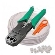 Cleste pentru sertizat cablu LanKATT Pachet Cleste de Sertizat Semi-Profesional si cablu