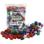 Dice - Big Bag of 100 Gaming Dice by Monster - Assorted Sizes Perfect for D&D Education Gaming and more