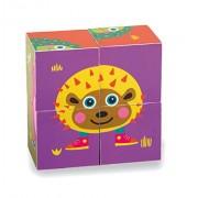Vaya 16.009,2 LHB - Fácil de juguetes de madera bloque en diseño colorido, animal lindo con la tortuga y Amigos