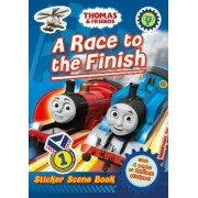 Thomas & Friends: A Race to the Finish (Sticker Scene Book)