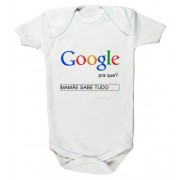 Body Personalizado Modelo Google pra que? Mamãe sabe tudo + Brinde