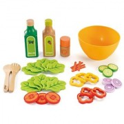 Hape Healthy Gourmet Salad Kid's Wooden Play Kitchen Food Sets and Accessories