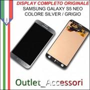 Display LCD Touch Samsung Galaxy S5 NEO G903F Originale SILVER GRIGIO Schermo GH97-17787A