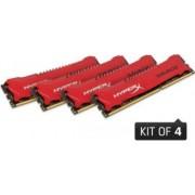 Memorie HyperX Savage 32GB kit 4x8GB DDR3 1600MHZ CL9 Red