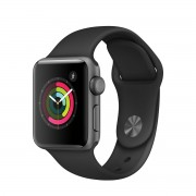 Apple Watch Series 2 38mm Space Grey Aluminium Case with Black Sport Band MP0D2MP/A