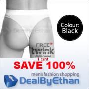 Twink Solid G String FREE Men's Underwear Black