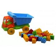 Toy Planet - Camión volquete 30 piezas, talla pequeña