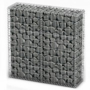 vidaXL Габион кош с капаци от поцинкована стомана 100 х 30 см