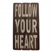 Afbeelding Follow Your Heart - bruin, My Flair