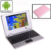 7.0 inch Android 4.4 Notebook PC EPC 701 CPU: VIA WM8880 Dual Core 1.5GHz(Pink)