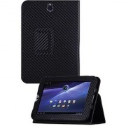 HHI Toshiba Thrive 7 UrbanFlip Series Viewing Stand Case - Carbon Fiber (Package include a HandHelditems Sketch Stylus P