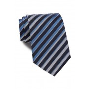 BOSS Hugo Boss Multi-Stripe Silk Tie MEDIUM BLUE