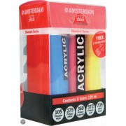 Amsterdam acrylverfset 5x 120ml met gratis doseertuiten