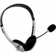 Casti 4World cu microfon Argintiu